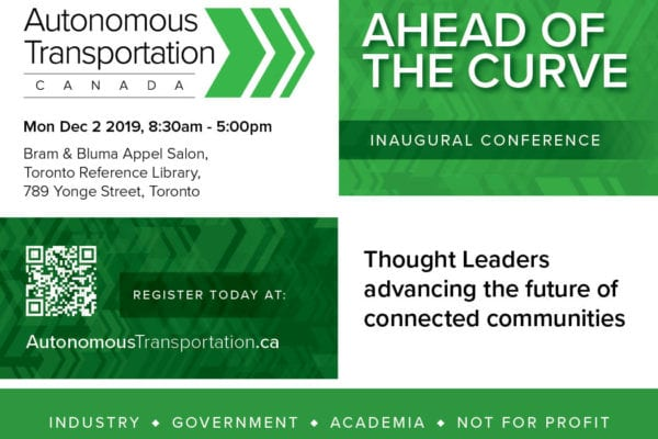 MEDIA ADVISORY : Inaugural Conference, Ahead of the Curve, Launches New Association for Connected and Autonomous Transportation Sector 1